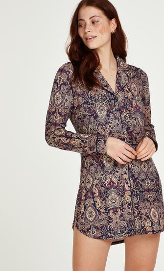 Pyjamatop Paisley, Blauw