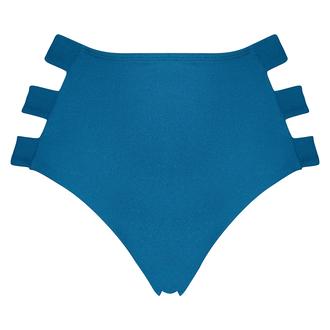 Hoog cheeky bikinibroekje Sunset Dream, Blauw