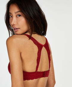 Lace back detail, Rood