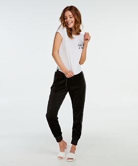 Korte mouwen pyjamatop, Wit