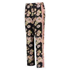 Pyjamabroek Satin Emily, Zwart