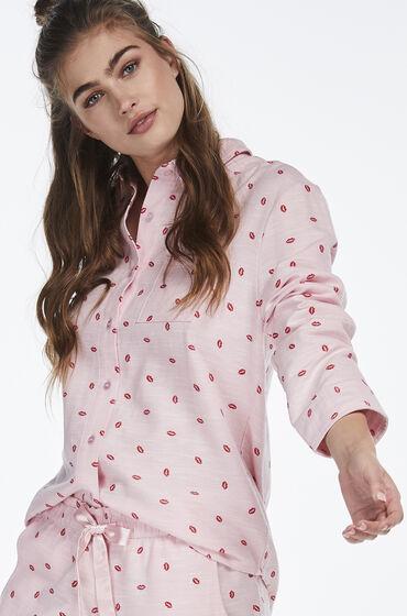 Hunkemöller Pyjama jasje Chambray Roze