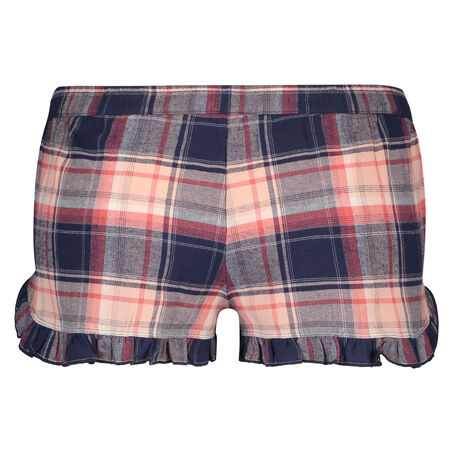 Pyjama short Check, Blauw