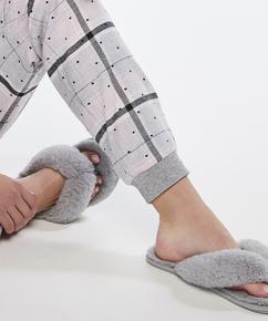 Slippers Fake Fur, Grijs
