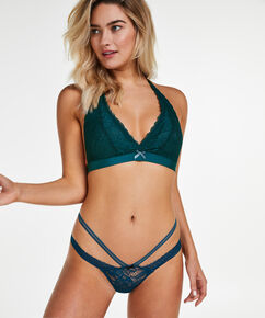String Strappy Low, Blauw