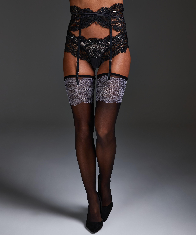 Noir Stocking Delicate, Zwart, main