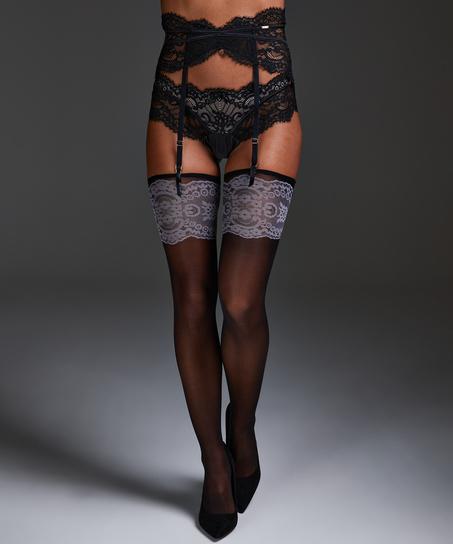 Noir Stocking Delicate, Zwart