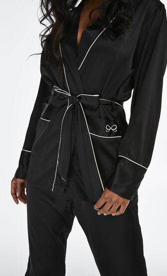 Pyjamabroek Satin Bow, Zwart
