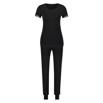 Pyjama set Jersey Lace, Zwart