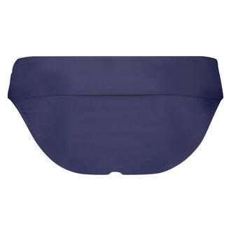 Fold over rio bikinibroekje Scallop Glam, Blauw