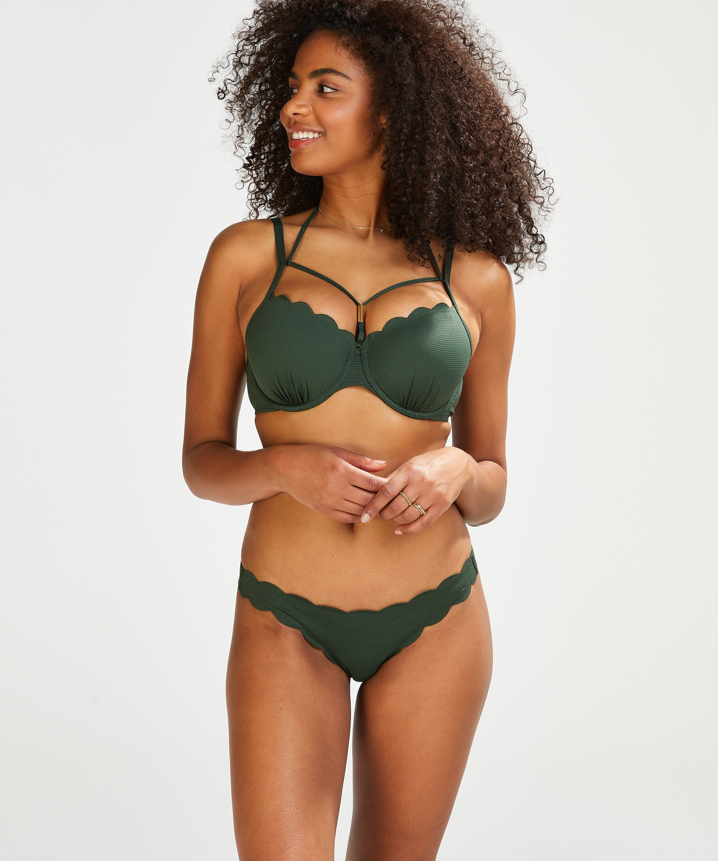 Voorgevormde beugel bikinitop Scallop Glam, Groen, main
