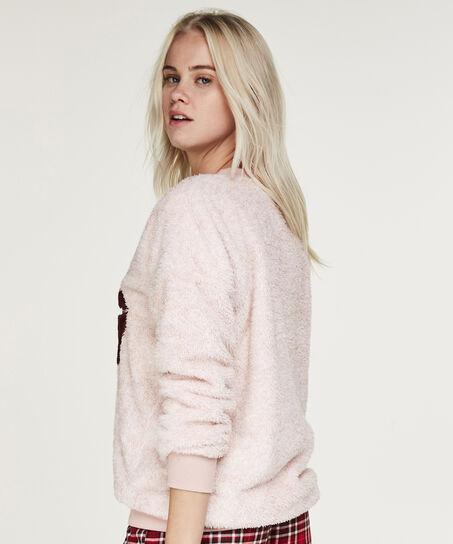 Sweater Fleece, Roze