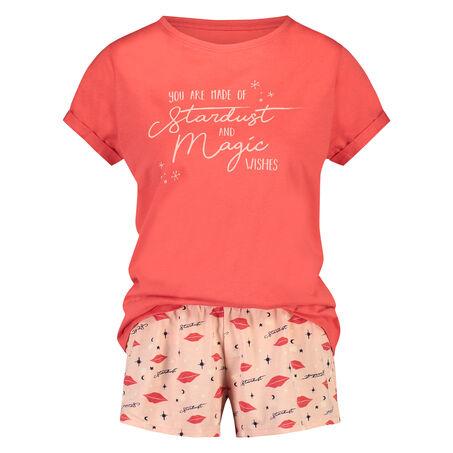 Korte pyjamaset, Rood