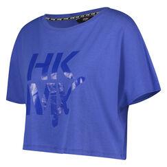 Loose fit croptop HKMX, Blauw