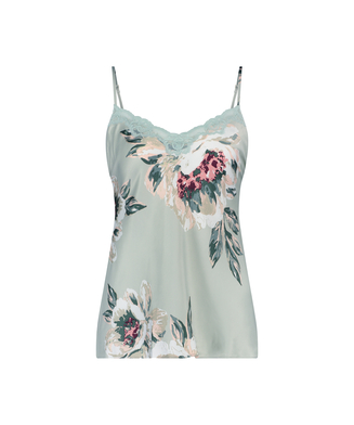 Cami top Painted Flower, Blauw