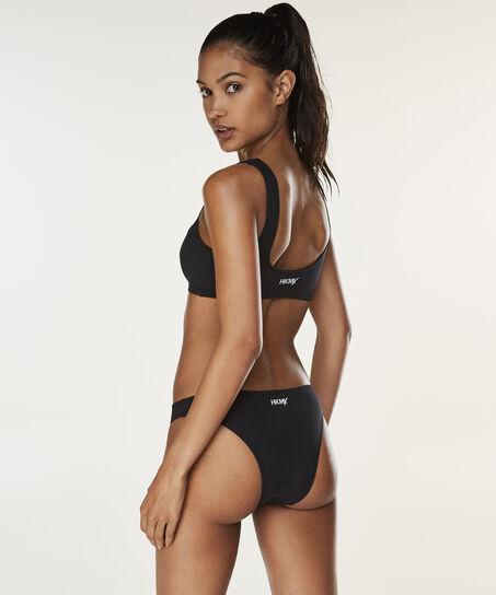 HKMX Bikini Croptop Neo, Zwart