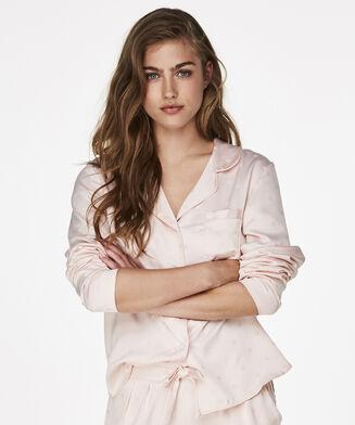 Pyjamatop Satin, Roze