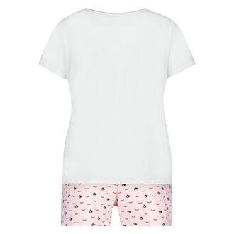 Korte pyjama set kind, Wit