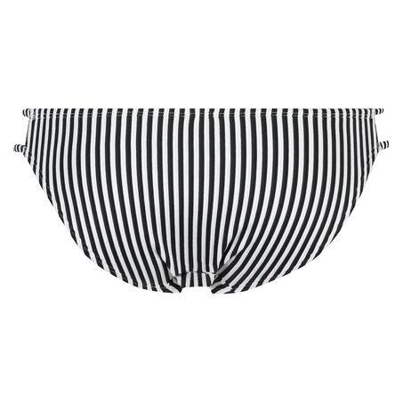Laag rio bikinibroekje Straps and Stripes, Zwart