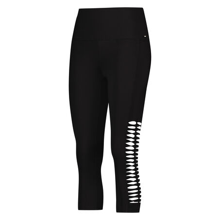HKMX Regular waist capri Level 2, Zwart