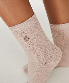 Gebreide sokken Doutzen, Roze