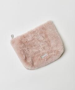 Make-up tas Fake fur, Roze