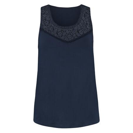 Top SL Lace, Blauw