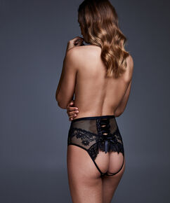 Charlie Open Back brazilian, Zwart
