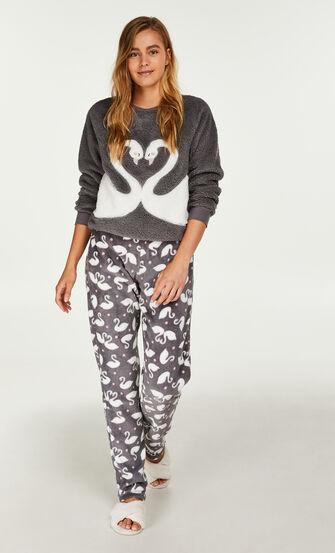 Pyjamabroek fleece, Grijs