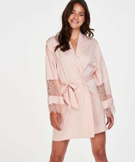 Kimono satijn Bridal, Roze