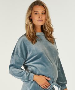 Zwangerschapstop Velours, Blauw
