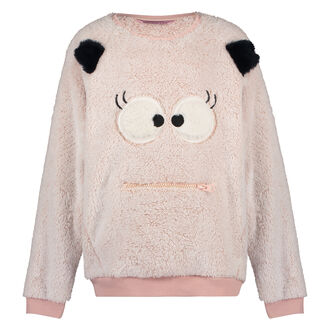 Fleece sweater Kids, Roze