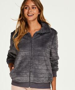 Vest Fleece Fur, Grijs