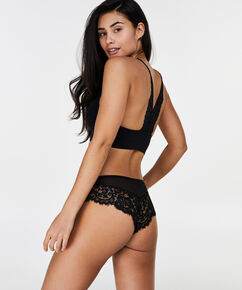 Marina Seamless lace back, Zwart
