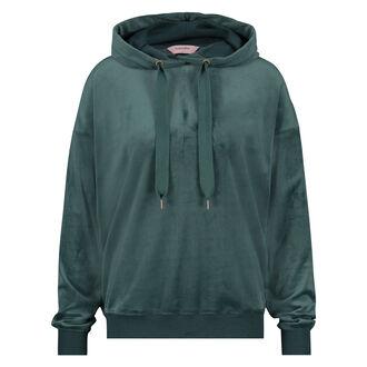 Lange mouwen pyjamatop velours, Groen