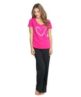 Top Lillly heart ss, Roze