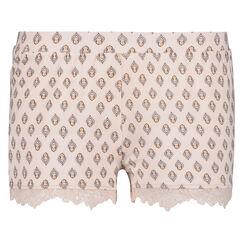 Pyjama short Jersey lace, Roze