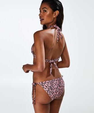 Triangle bikinitop Leopard Lady, Roze