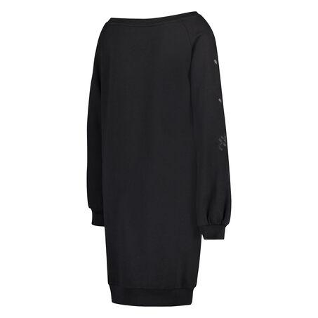 HKMX Oversized sweaterjurk, Zwart