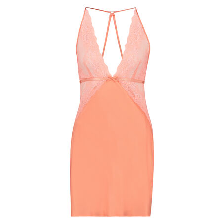 Slipdress Satin Lace, Oranje