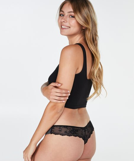 Invisible string Lace back, Zwart