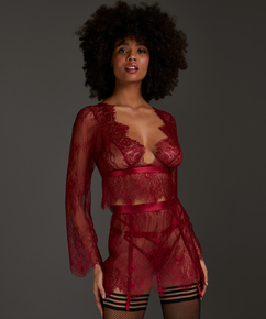 Top Allover Lace, Rood