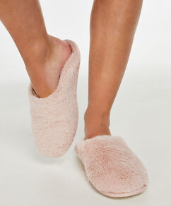 Huisslippers Fake Fur, Roze