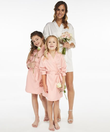 Kimono Satin Brides Crew kids, Roze
