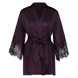Kimono Satin lace Indra Petite, Paars