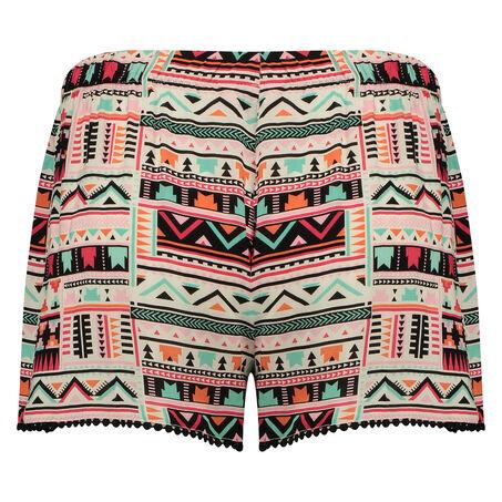 Pyjama shorts Macy Aztec, Zwart