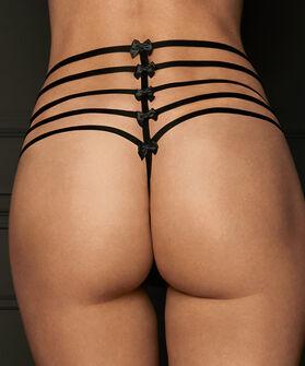 Hoge tanga string Mystique, Zwart