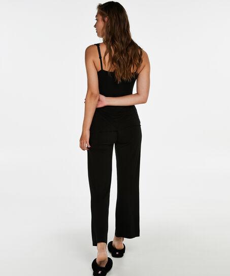 Pyjamaset Modal lace, Zwart