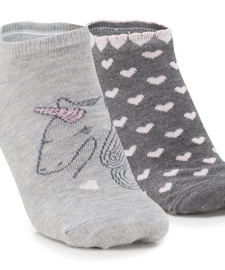 2 paar Sokken, Grijs
