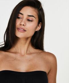 Naadloze strapless jurk, Zwart